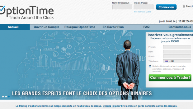 optiontime trading en ligne